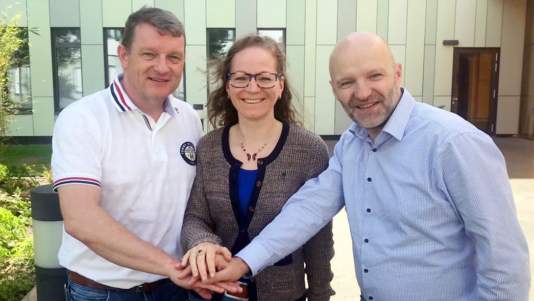 Der neue Vorstand des TTBV (von links): Stellvertretender Vorsitzender Tobias Pfeifer, Schatzmeisterin Tina Gunßer, Vorsitzender Joachim Fromm.